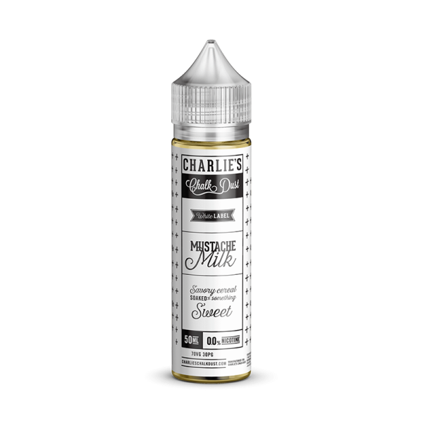Charlies Chalk Dust Mustache Milk E Liquid 50ml Shortfill