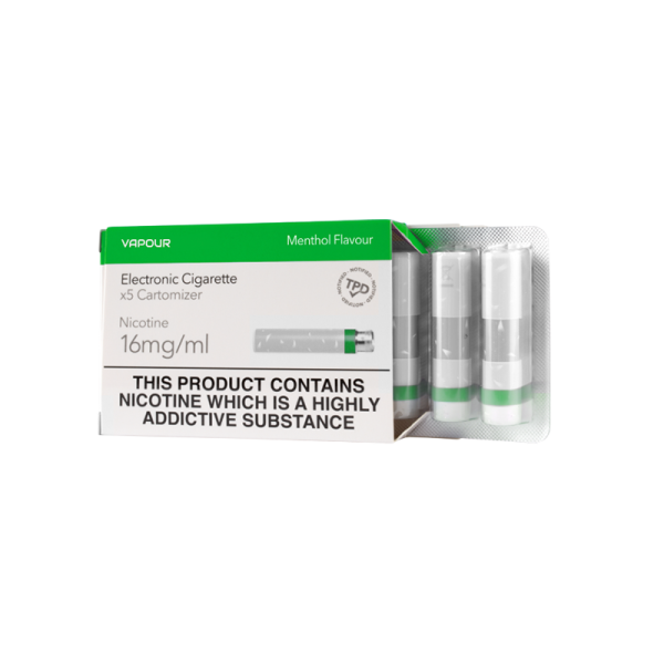 Menthol Pharma+ Cartomizer Refills - 5 Pack 6mg