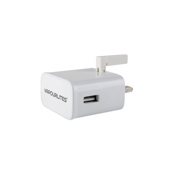 Vapour USB To 3 Pin Slimline Mains Wall Charger